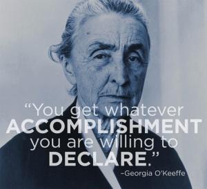 Georgia-O'Keeffe Manifesto monday