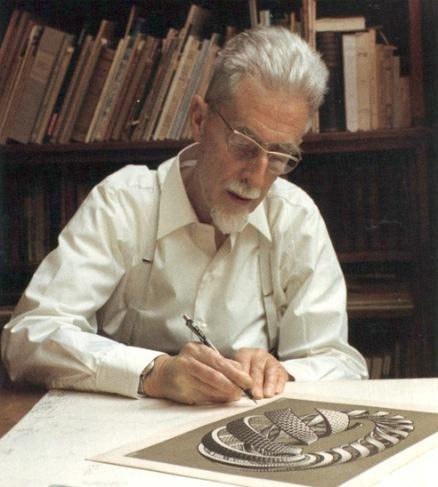 M_C_-Escher-signing-Spirals-portrait-artist_jpeg