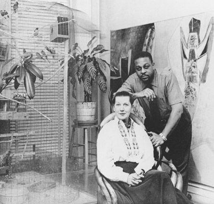 Jeanne and husband artist Thomas Stills